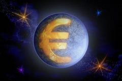 Abstraktes Bild des Symbols des europäischen Währungseuros als a stock abbildung