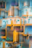 Abstraktes Bild einer Ampel lizenzfreie stockbilder