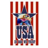 Abstraktes Bild eines Adlers, ein Symbol der Vereinigten Staaten vektor abbildung