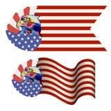 Abstraktes Bild eines Adlers, ein Symbol der Vereinigten Staaten lizenzfreie abbildung