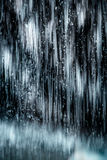 Abstraktes Bild eines Eisfalles Stockbild