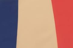 Abstraktes Bild eines Fragments der Flagge von Frankreich Stockfoto