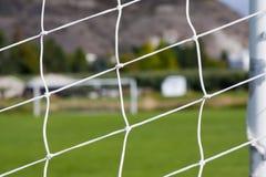Abstraktes Bild eines Fußballplatzes Lizenzfreie Stockfotografie
