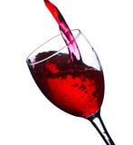 Abstraktes Bild eines Glases Weins Lizenzfreies Stockfoto