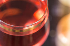 Abstraktes Bild eines Glases Weins Lizenzfreie Stockfotografie