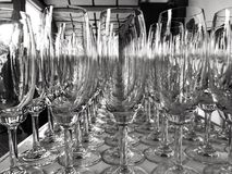 Abstraktes Bild eines Glases Weins Stockfotos
