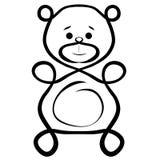 Abstraktes Bild eines lustigen Bären, kreativ lizenzfreie abbildung