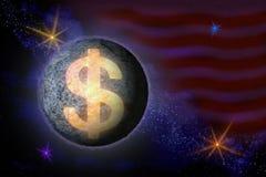 Abstraktes Bild eines Symbols der amerikanischen Dollarwährung im Th vektor abbildung