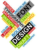 Abstraktes Bild gebildet von den Wörtern, die mit d in Verbindung stehen Lizenzfreie Stockbilder