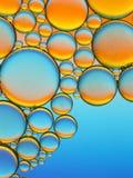 Abstraktes Bild von Öltröpfchen Stockbild