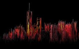 Abstraktes Bild von Manhattan Stockfotografie