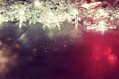 Abstraktes Bild von Weihnachtsbaum-Girlandenlichtern Lizenzfreie Stockbilder