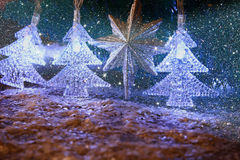 Abstraktes Bild von Weihnachtsbaum-Girlandenlichtern Lizenzfreie Stockfotografie