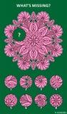 Abstraktes Bildpuzzlespiel mit Mandala ähnlichem Design Stockfoto