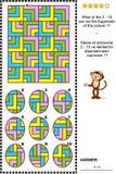 Abstraktes Bildpuzzlespiel - Teile und das Ganze Lizenzfreie Stockfotos