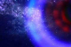 abstraktes Bildraumschiff-UFO im Konzept des nächtlichen Himmels und der Astrologie Stockfoto