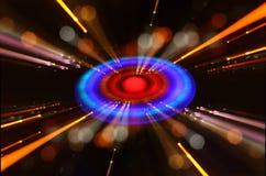 abstraktes Bildraumschiff-UFO im Konzept des nächtlichen Himmels und der Astrologie Lizenzfreie Stockfotografie