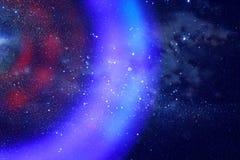 abstraktes Bildraumschiff-UFO im Konzept des nächtlichen Himmels und der Astrologie Stockfotos