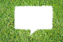Abstraktes Blasengesprächsisolat des grünen Grases Stockfotografie