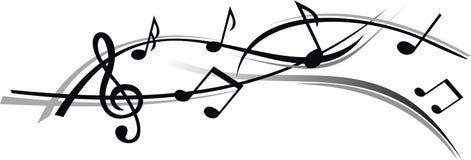 Abstraktes Blatt von Musik mit weißem Hintergrund Stockfoto