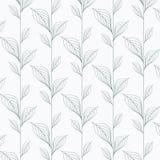 Abstraktes Blattvektormuster, lineare Blätter wiederholend, Blume, skeleton Blätter, Gras stock abbildung
