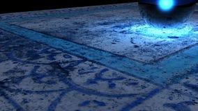 Abstraktes Blau stockbild