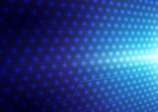 Abstraktes Blau beleuchtet Hintergrund Stockfotografie