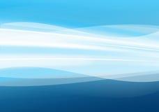 Abstraktes Blau bewegt Hintergrund wellenartig Stockfotografie
