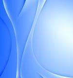 Abstraktes Blau bewegt Hintergrund wellenartig Stockfoto