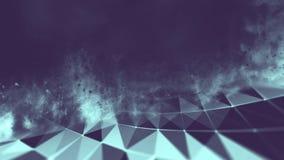 Abstraktes Blau 3d belichteter verzerrter Mesh Sphere Yankee Stadium, NY Futuristische Technologie HUD Element Eleganter Auszug Lizenzfreies Stockfoto