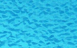 Abstraktes Blau kristallisierter Hintergrund CG-Grafiken der polygone Oberfläche Stockfotos
