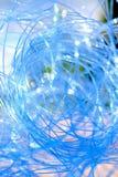 Abstraktes Blau rundet Hintergrund Lizenzfreies Stockfoto