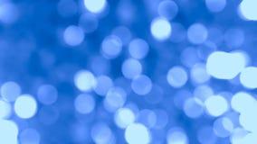 Abstraktes Blau unscharfer bokeh Hintergrund Lizenzfreie Stockfotos