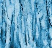 Abstraktes blaues Aquarell auf Papierbeschaffenheit als Hintergrund Christm Stockfotografie
