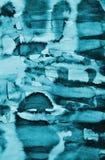 Abstraktes blaues Aquarell auf Papierbeschaffenheit als Hintergrund Christm Stockfoto