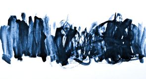 Abstraktes blaues Aquarell auf Papierbeschaffenheit als Hintergrunddesign Stockfoto