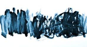 Abstraktes blaues Aquarell auf Papierbeschaffenheit als Hintergrunddesign Stockbild