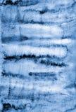 Abstraktes blaues Aquarell auf Papierbeschaffenheit als Hintergrunddesign Stockfotografie