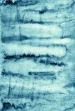 Abstraktes blaues Aquarell auf Papierbeschaffenheit als Hintergrunddesign Lizenzfreies Stockbild