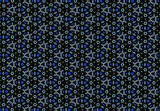 Abstraktes blaues Blumenmuster Lizenzfreie Stockfotografie