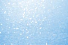 Abstraktes blaues bokeh Lizenzfreie Stockbilder