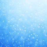 Abstraktes blaues bokeh defocused Hintergrund lizenzfreie stockfotografie