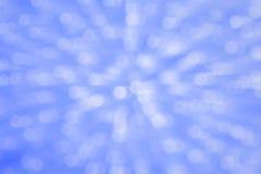 Abstraktes blaues bokeh kreist Hintergrund ein Lizenzfreie Stockfotos