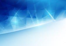 Abstraktes blaues geometrisches und Raum für Ihren Text Lizenzfreie Stockfotografie
