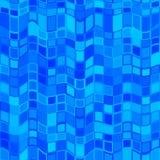 Abstraktes blaues gewelltes Fliesenmuster Cyan-blaue Welle deckte Beschaffenheitshintergrund mit Ziegeln Einfacher Türkis überprü Lizenzfreie Stockbilder