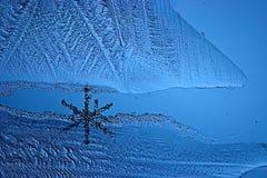 Abstraktes blaues Hintergrundkälteeis Stockfoto