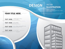 Abstraktes blaues Kurve templete und Rahmen, Vektor Stockfotos