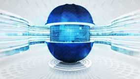 Abstraktes blaues Multimediatechnologie-Visionskonzept stock abbildung