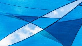 Abstraktes blaues Muster und Hintergrund Stockfotos