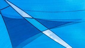 Abstraktes blaues Muster und Hintergrund Lizenzfreie Stockbilder